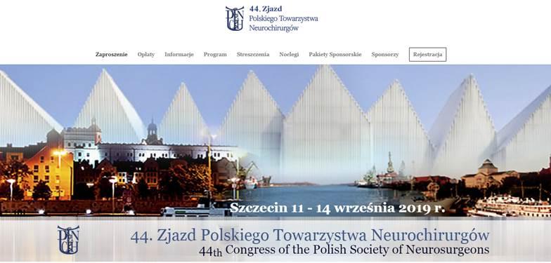 44. Zjazd Polskiego Towarzystwa Neurochirurgów - strona www