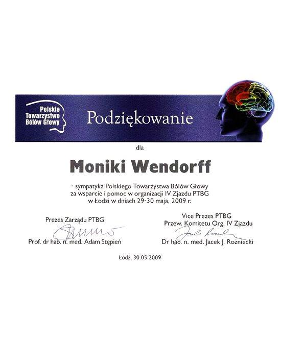 Referencje - Polskie Towarzystwo Bólów Głowy